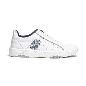 Women's Icon 2.0X White Blue Leather Sneakers 96303-058