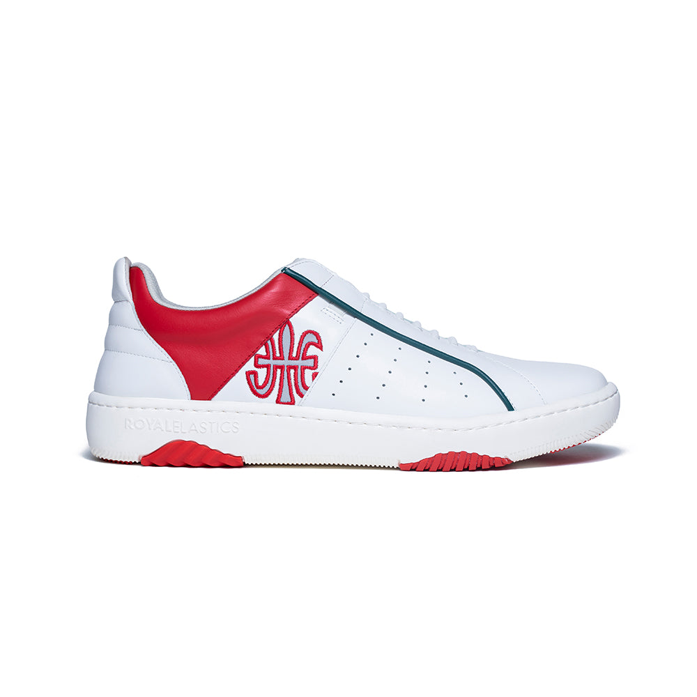 Women's Icon Archer Red White Leather Sneakers 96394-001