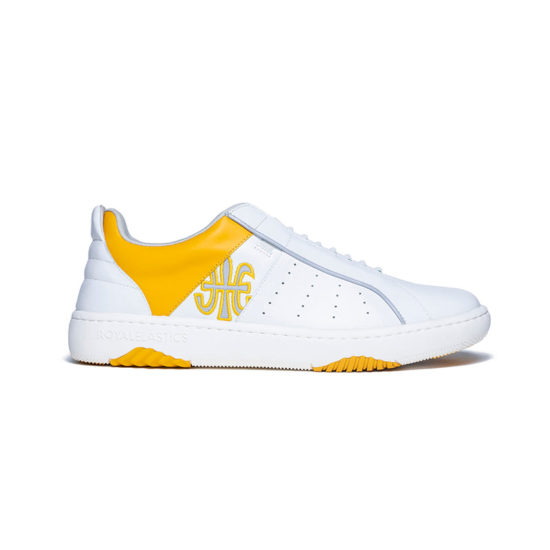 Men's Icon Archer Yellow White Leather Sneakers 06394-003 - ROYAL ELASTICS