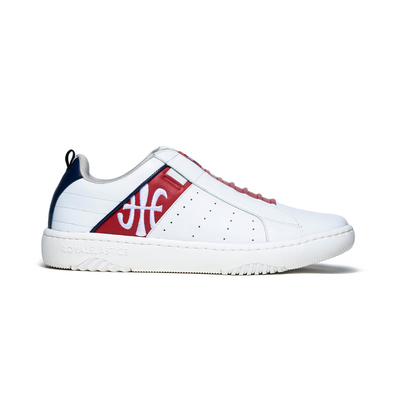 Men's Icon 2.0 Red White Leather Sneakers 06501-015