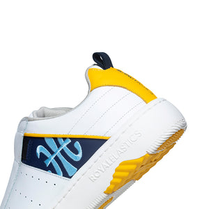 Men's Icon 2.0 Yellow Blue Leather Sneakers 06501-053