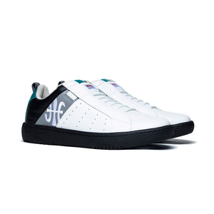 Men's Icon 2.0 Black Green Leather Sneakers 06501-089