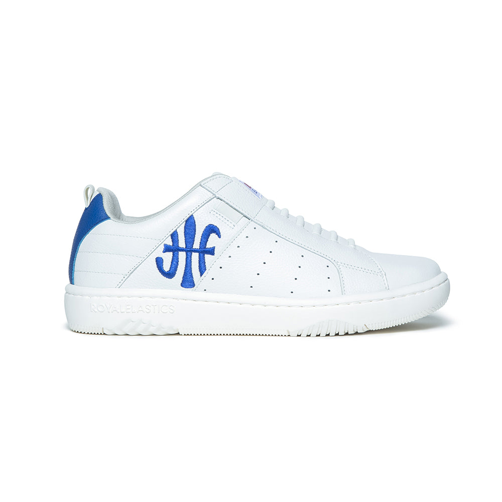Men's Icon 2.0 White Blue Leather Sneakers 06502-005