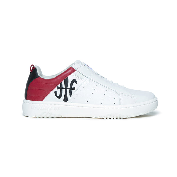 Men's Icon 2.0 White Red Leather Sneakers 06502-019