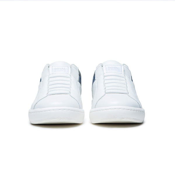 Men's Icon 2.0 White Gray Leather Sneakers 06511-058