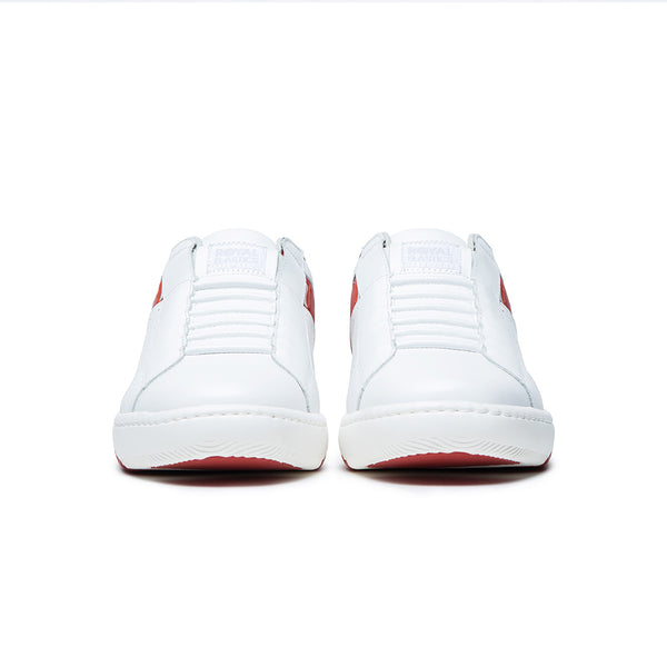 Men's Icon 2.0 White Red Leather Sneakers 06512-018
