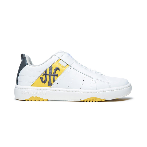 Men's Icon 2.0 White Yellow Leather Sneakers 06512-038