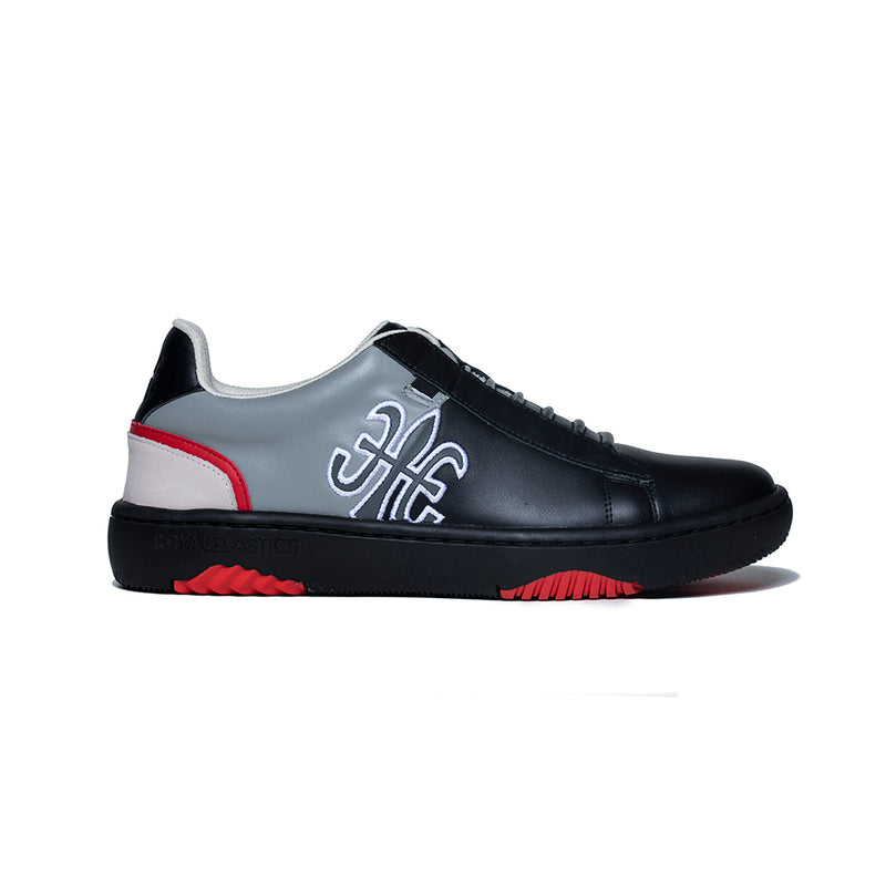 Men's DUCA Black Gray Leather Sneakers 06894-998