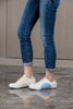 Women's New York Beige Blue Canvas Low Tops 93982-550