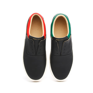 Women's Knight Black Red Green Leather Loafers 90183-941 - ROYAL ELASTICS