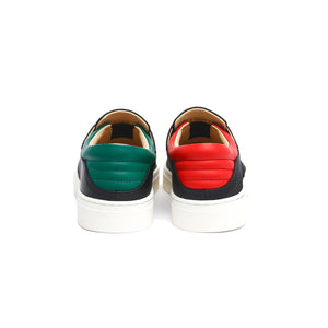 Women's Knight Black Red Green Leather Loafers - ROYAL ELASTICS
