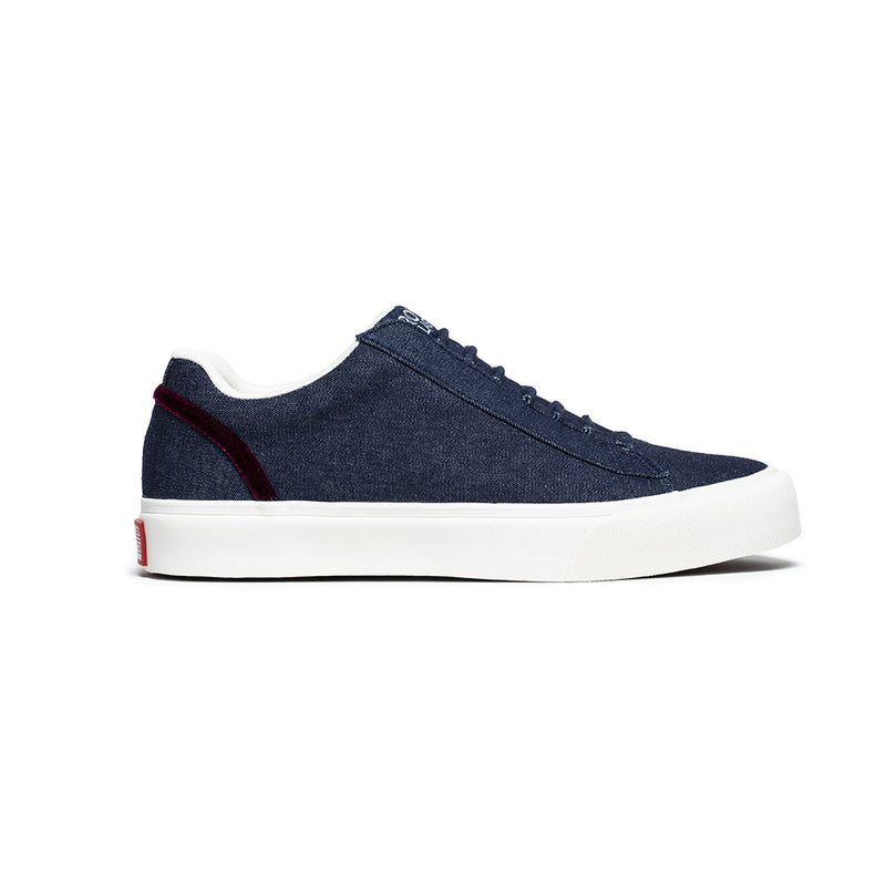 Women's Cruiser Navy Blue Nylon Low Tops 90603-556