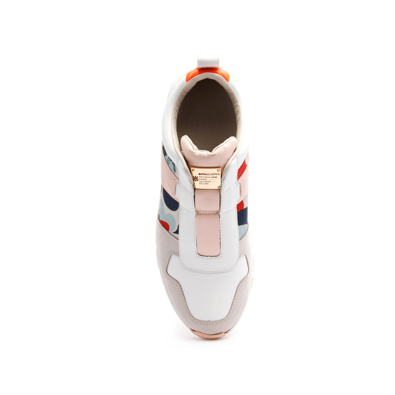 Women's Rider Pink Camouflage Leather Sneakers 91191-018 - ROYAL ELASTICS