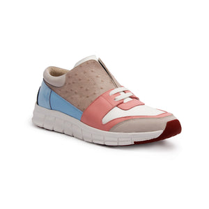 Women's Midnight Rider Pink Gray Blue Leather Sneakers 91291-158 - ROYAL ELASTICS