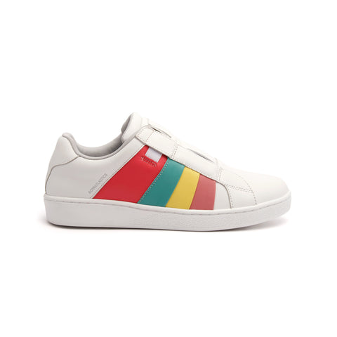 Women's Prince Albert White Leather Sneakers 91483-143