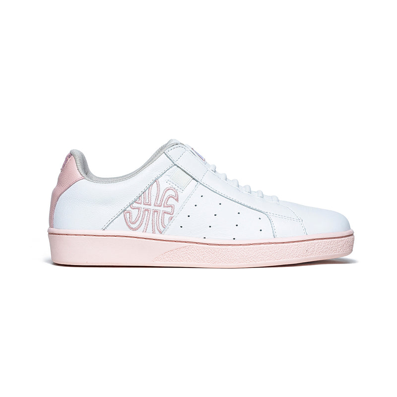 Women's Icon Genesis White Pink Leather Sneakers 91901-010