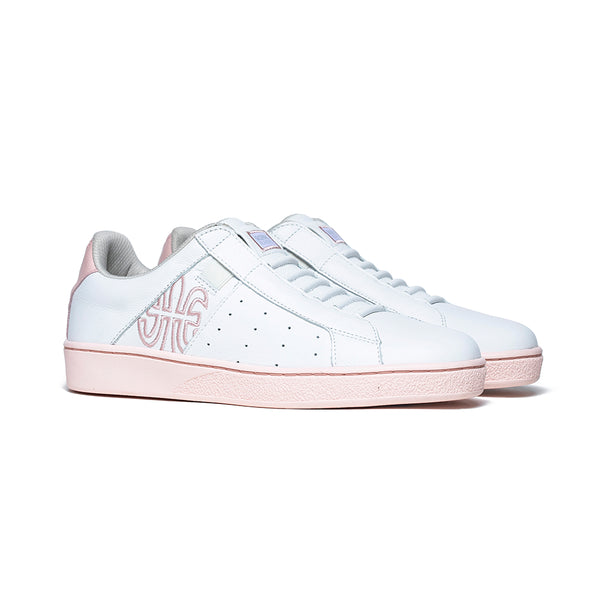 Women's Icon Genesis White Pink Leather Sneakers 91901-010 - ROYAL ELASTICS