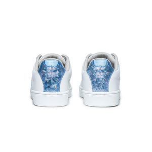Women's Icon Genesis White Blue Glitter Leather Sneakers 91901-500 - ROYAL ELASTICS