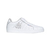 Women's Icon Genesis White Silver Logo Leather Sneakers 91902-008