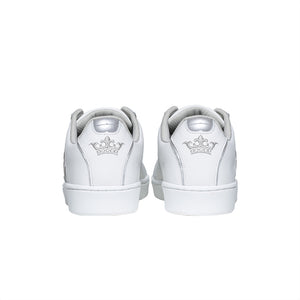 Men's Icon Genesis White Silver Logo Leather Sneakers 01902-008
