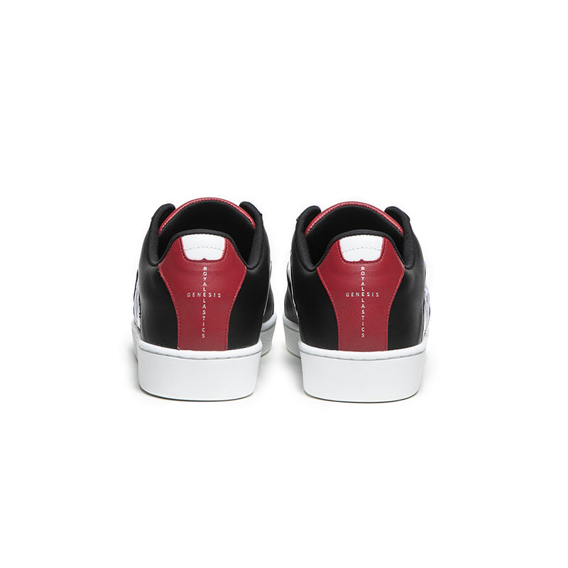 Women's Icon Black Red Leather Sneakers 91903-991