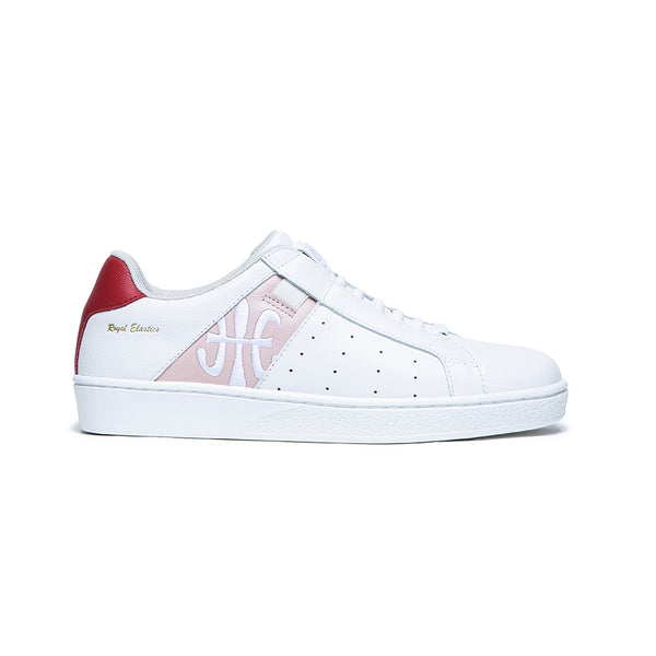 Women's Icon White Red Leather Sneakers 91911-011