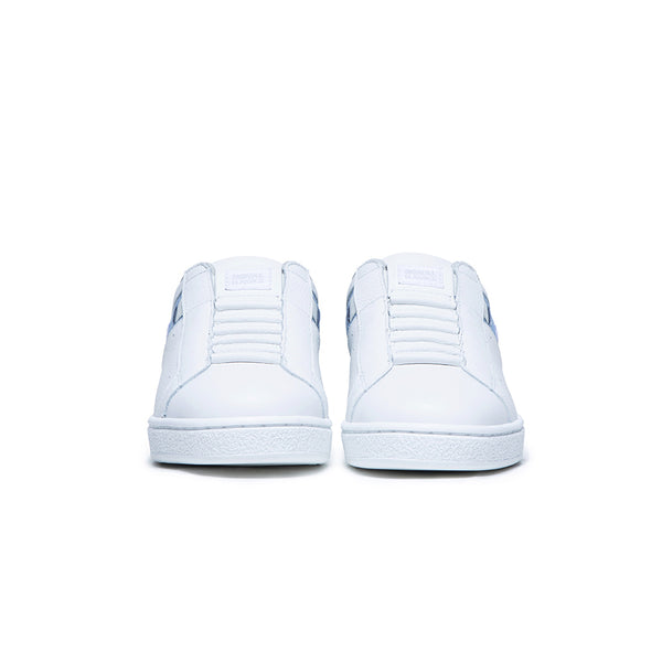 Women's Icon White Blue Leather Sneakers 91911-055