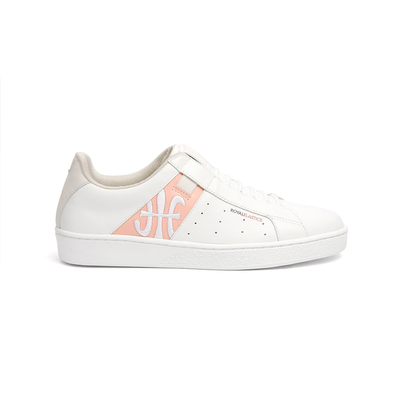 Women's Icon Genesis Chunk White Pink Leather Sneakers 91992-001 - ROYAL ELASTICS