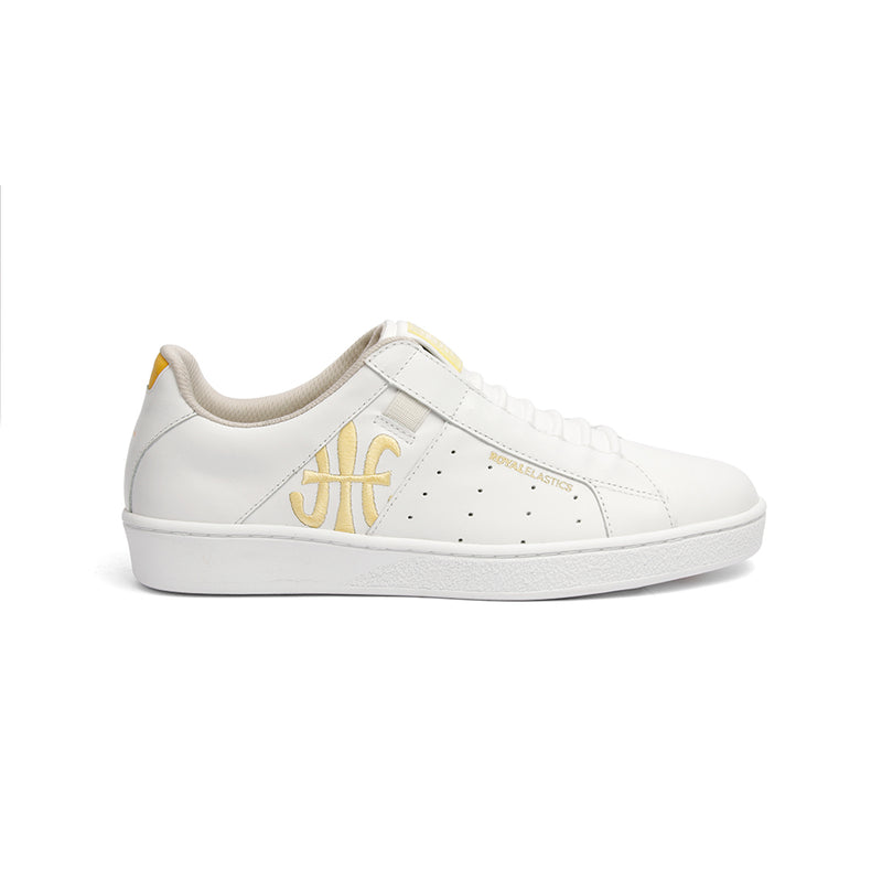 Women's Icon Genesis Bubblegum White Yellow Leather Sneakers 91992-300 - ROYAL ELASTICS