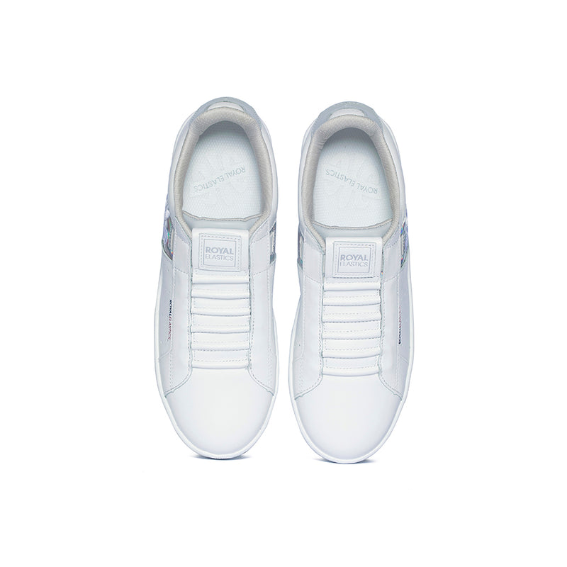 Women's Icon Genesis  White Leather Sneakers 91994-008 - ROYAL ELASTICS