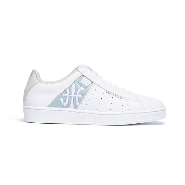 Women's Icon Genesis White Blue Leather Sneakers 91994-050 - ROYAL ELASTICS