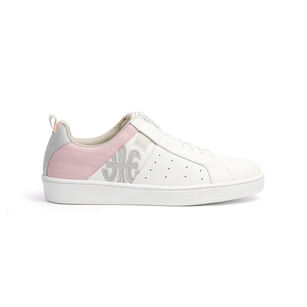 Women's Icon Manhood White Pink Gray Leather Sneakers 92093-066 - ROYAL ELASTICS