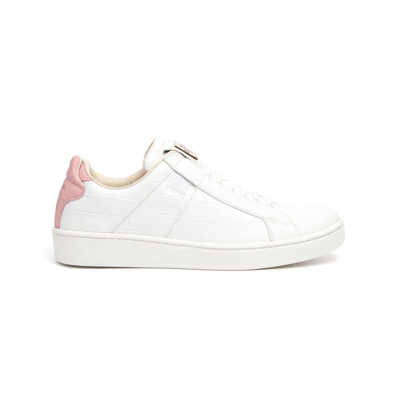 Women's Icon SBI White Pink Leather Sneakers - ROYAL ELASTICS