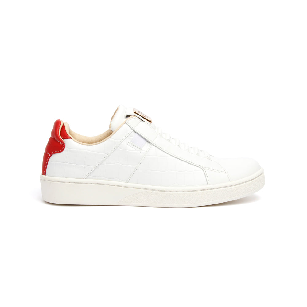 Women's Icon SBI White Red Leather Sneakers 92583-081 - ROYAL ELASTICS