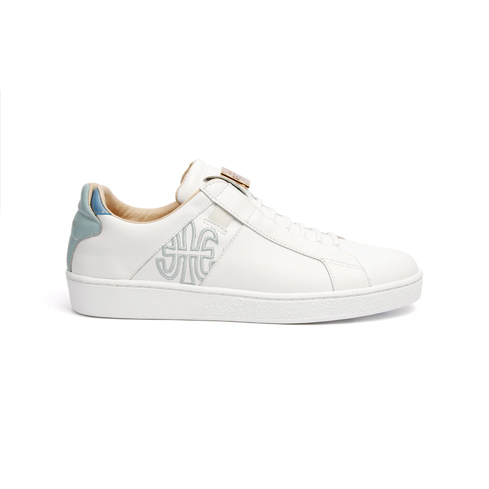 Women's Icon SBI White Blue Leather Sneakers 92592-050 - ROYAL ELASTICS