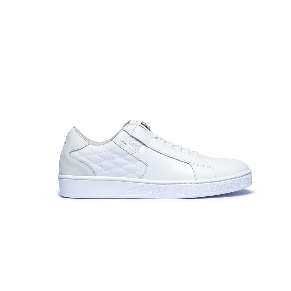 Women's Adelaide White Cream Leather Sneakers 92602-000