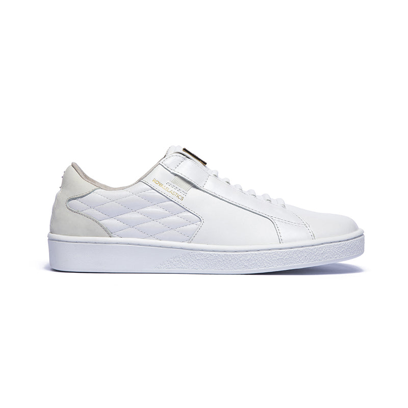 Women's Adelaide White Cream Leather Sneakers 92694-000