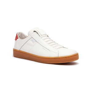 Women's Icon Urbanite White Red Leather Sneakers 92982-010 - ROYAL ELASTICS