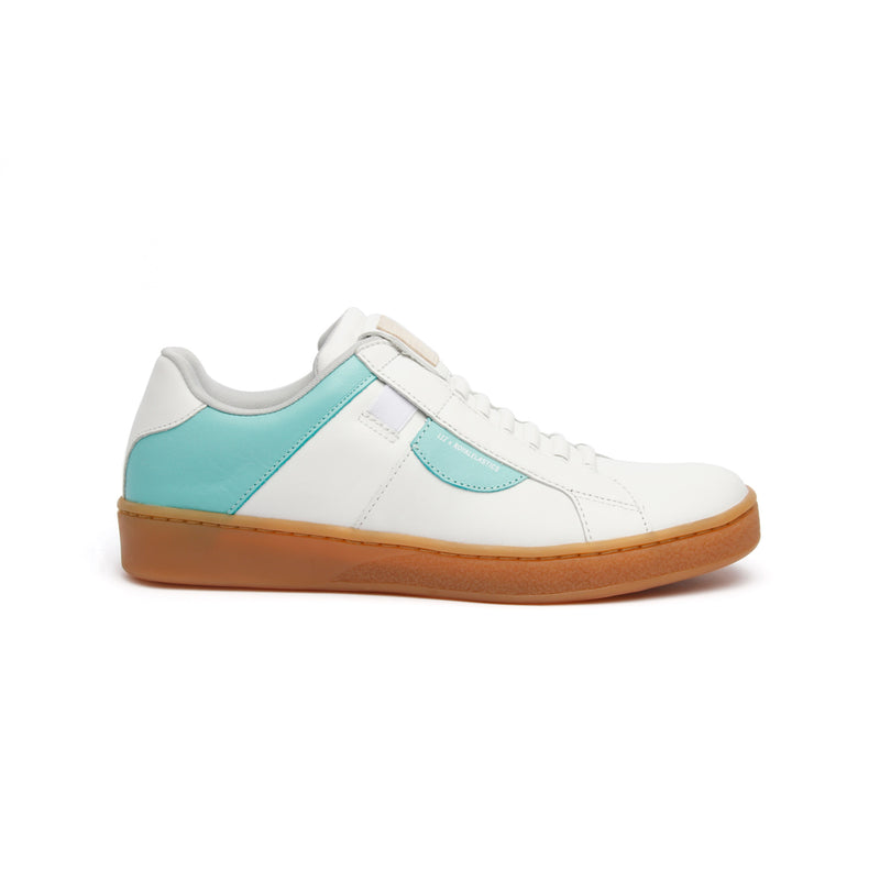 Women's Icon Dots White Green Leather Sneakers - ROYAL ELASTICS