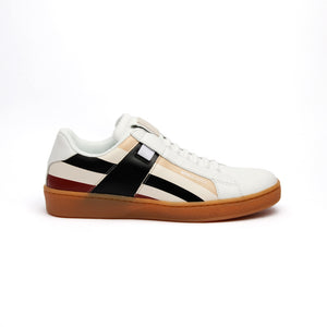 Women's Icon Cross Brown Red Black Leather Sneakers - ROYAL ELASTICS