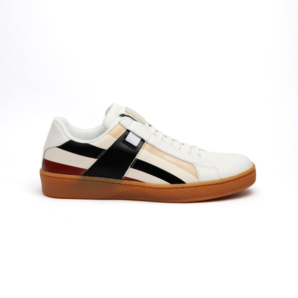 Women's Icon Cross Brown Red Black Leather Sneakers 92983-071