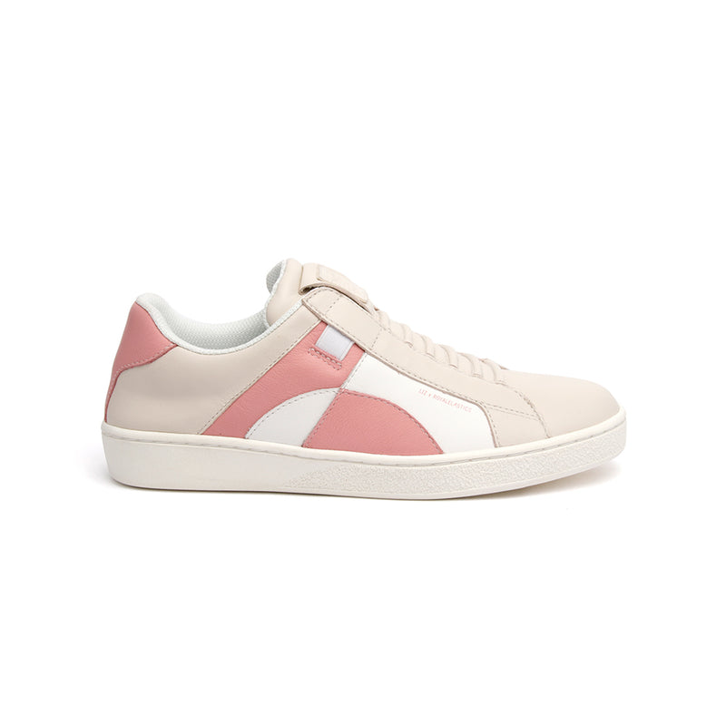 Women's Icon Dots White Pink Leather Sneakers - ROYAL ELASTICS
