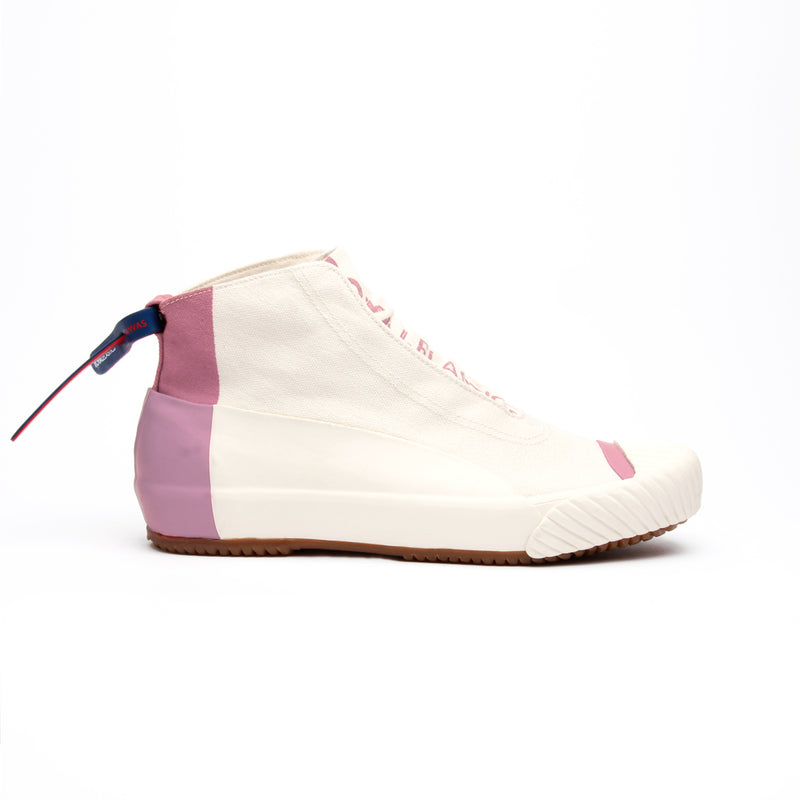 Women's London Hi Beige Pink Canvas High Tops 93482-101 - ROYAL ELASTICS