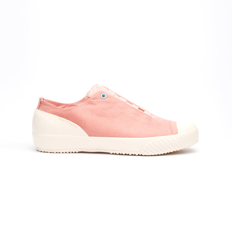 Women's London Pink Beige Canvas Low Tops 93582-101 - ROYAL ELASTICS