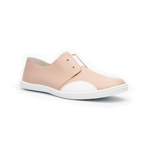 Women's New York Nude Color White Leather Flats 93882-110 - ROYAL ELASTICS