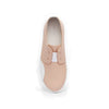 Women's New York Nude Color White Leather Flats 93882-110