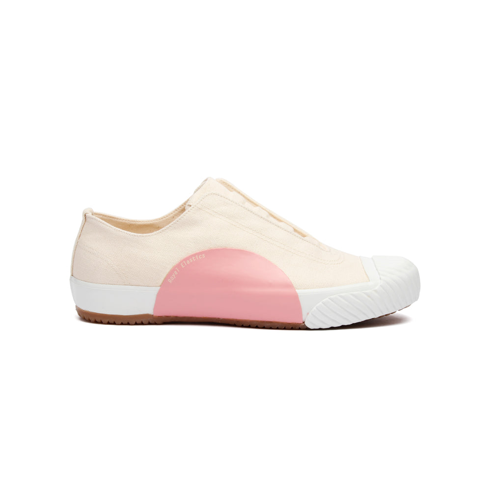 Women's New York Beige Pink Canvas Low Tops 93982-010 - ROYAL ELASTICS