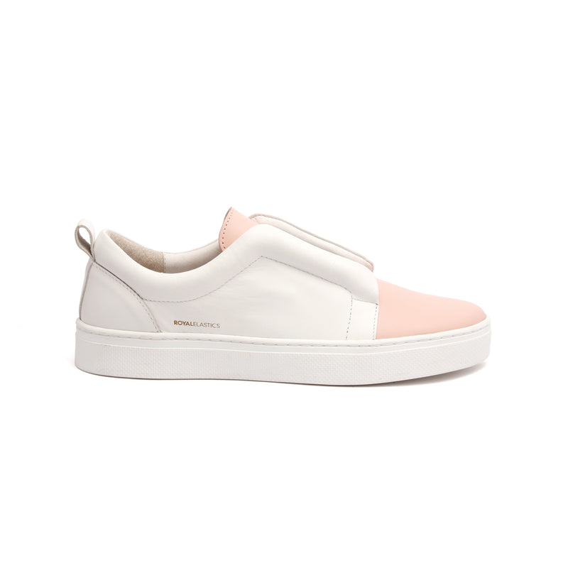 Women's Meister Pink Leather Low Tops - ROYAL ELASTICS
