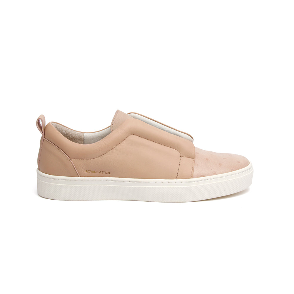 Women's Meister Toasted Almond Pink Leather Low Tops 94384-770 - ROYAL ELASTICS