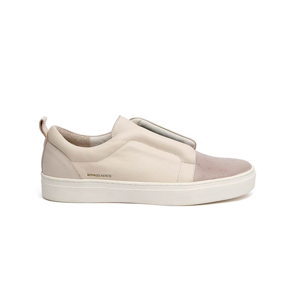 Women's Meister Whitecap Gray Leather Low Tops - ROYAL ELASTICS